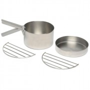KELLY KETTLE Stainless Steel Cook Set for Base Camp or Scout Kettles
